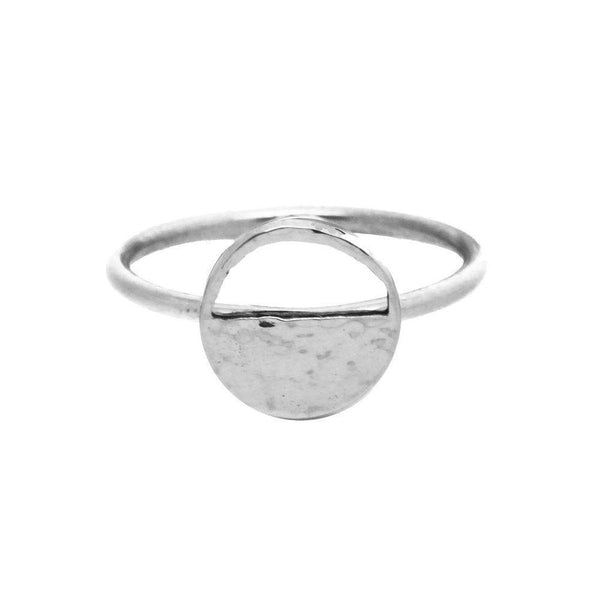 Mini Demi Lune Silver Signet Ring-KIND Jewellery-MAMOQ