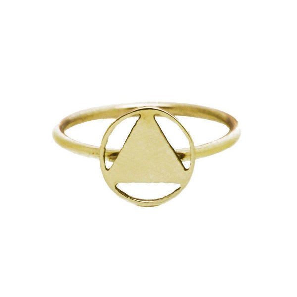 Mini Elements Yellow Gold Signet Ring-KIND Jewellery-MAMOQ