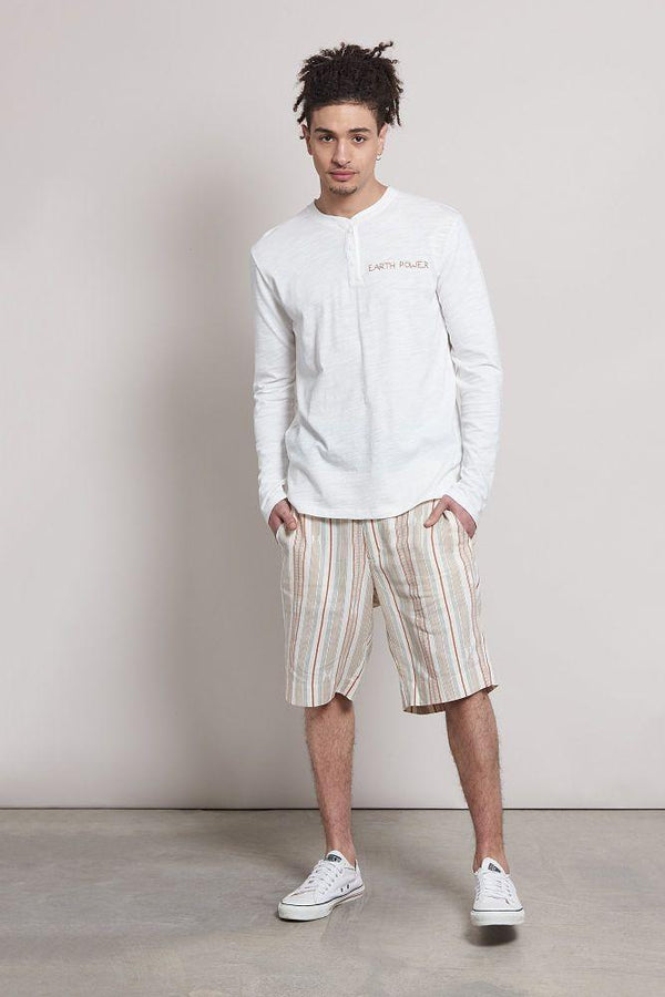 Monaco Striped Linen Shorts-Komodo-MAMOQ