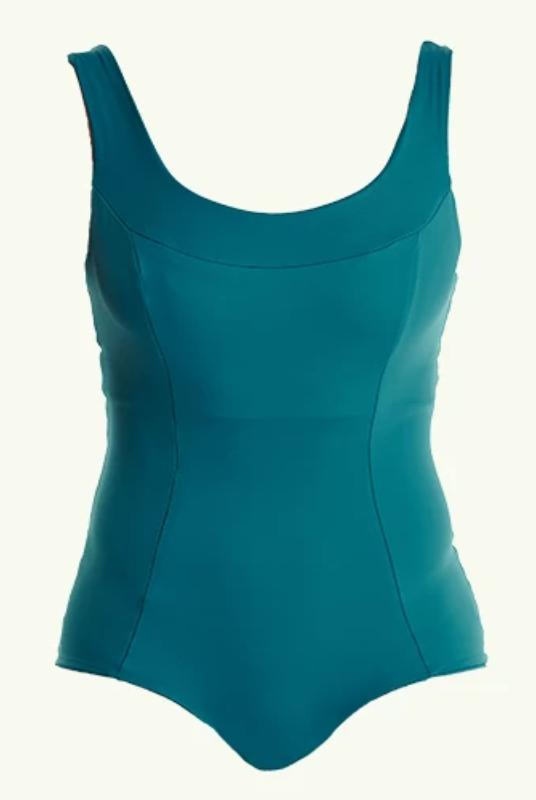 Monroe Teal Crossback Swimsuit-Deakin and Blue-MAMOQ