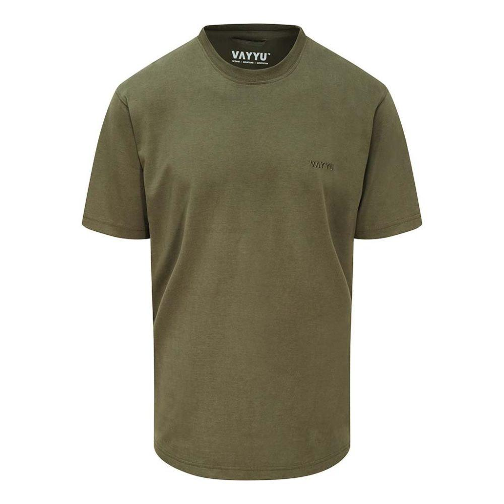 Moss Green - Organic Cotton T-Shirt-VAYYU-MAMOQ
