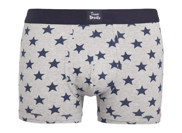Muchacho Grey Brief With Stars-True Boxers-MAMOQ