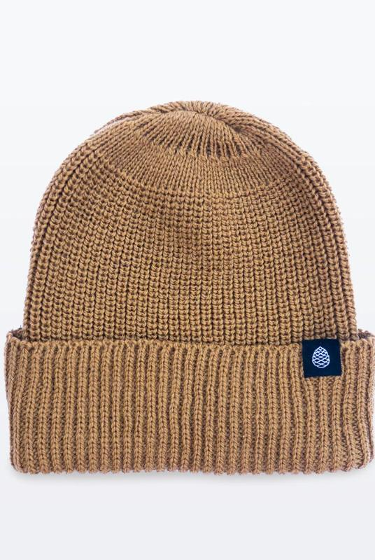 Mustard Color British Wool Everyday Trail Beanie-The Level Collective-MAMOQ