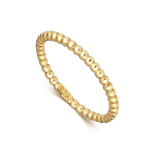 Mustard Dot Gold Plated Ring Band-Little by Little Jewellery-MAMOQ