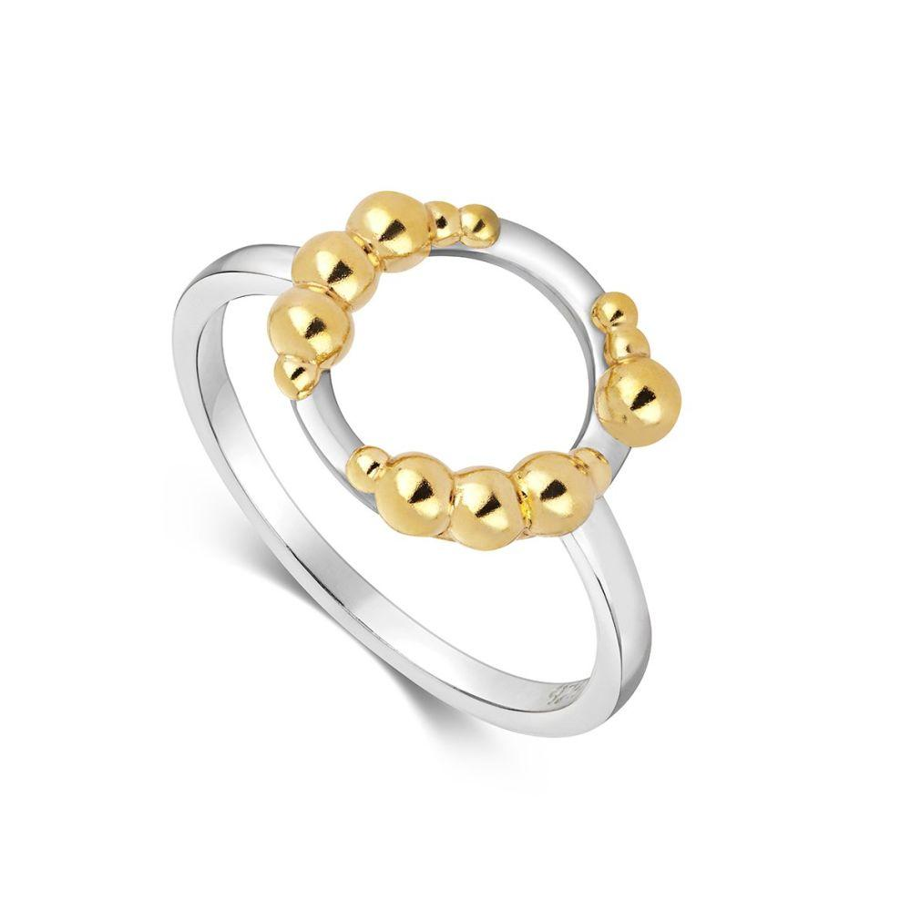 Mustard Halo Ring-Little by Little Jewellery-MAMOQ