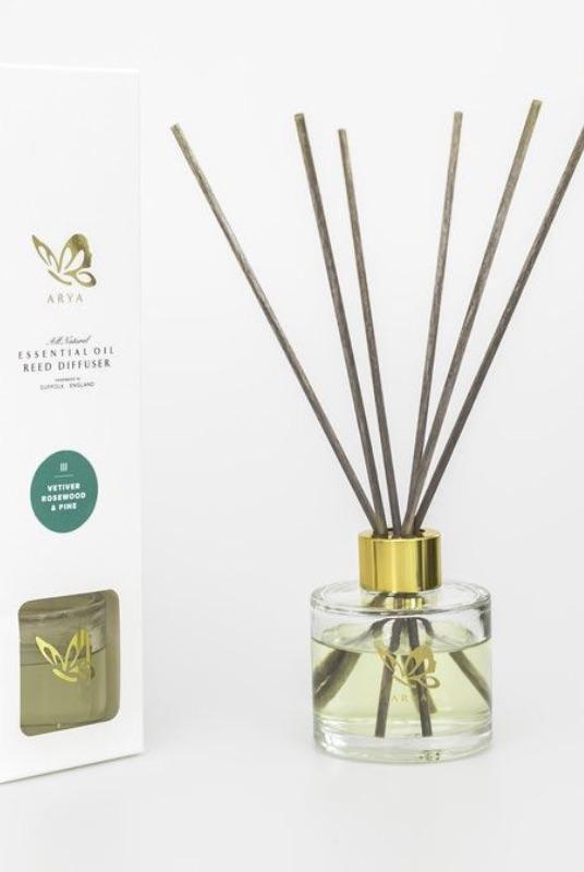 Natural Vetivert, Rosewood, & Pine Diffuser-Arya Candles-MAMOQ
