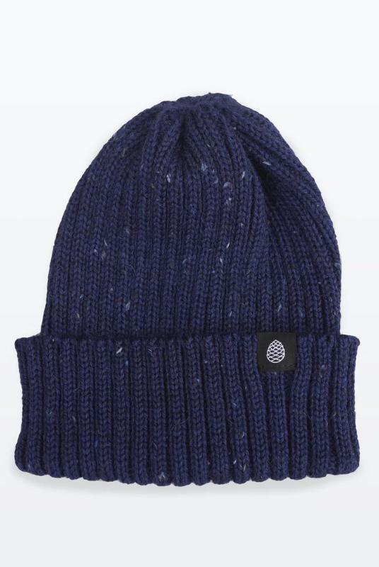 Navy Flecked Color British Wool Everyday Trail Beanie-The Level Collective-MAMOQ