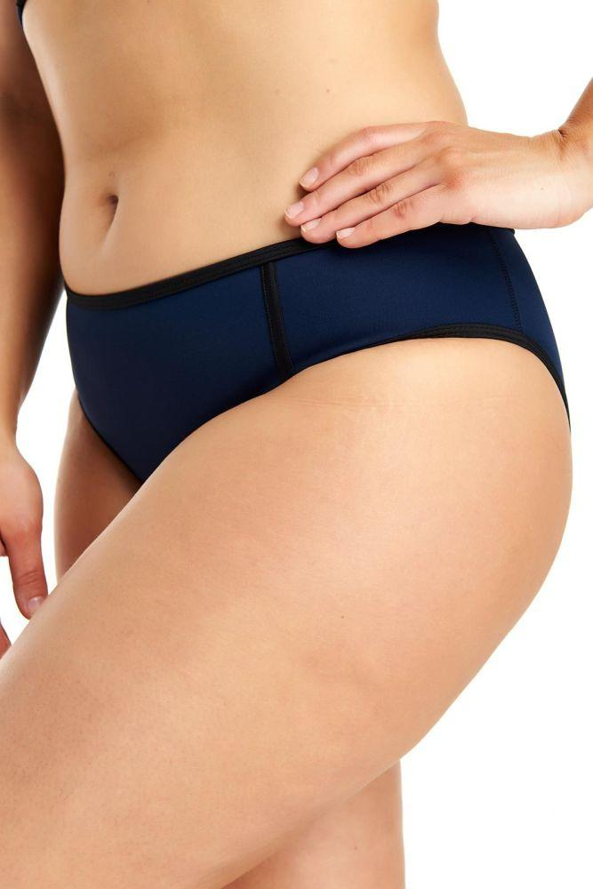 Navy Regular Bikini Bottoms-Deakin and Blue-MAMOQ