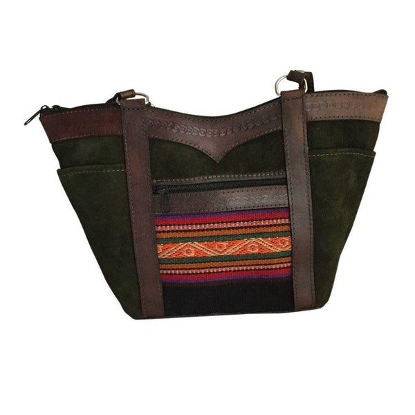 Nevado Sajama Dark Green Natural Leather Handbag-Untold Treasures-MAMOQ