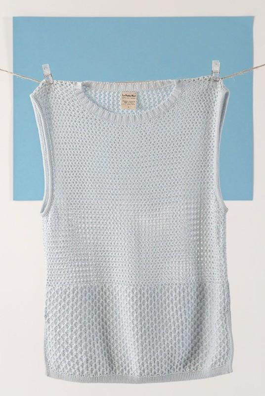 Nila Ciel Light Blue Organic Cotton Sleeveless Top-La Petite Mort-MAMOQ