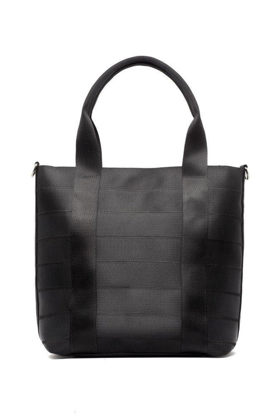 Nilza Black Up-cycled Tote Bag-Belo-MAMOQ