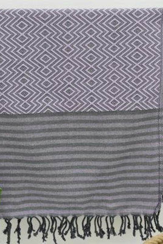 Nisa Purple Organic Cotton Hammam Towel-Harfi-MAMOQ