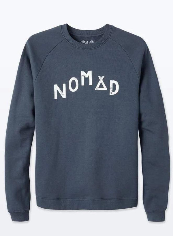 Nomad Navy Organic Cotton Sweater-The Level Collective-MAMOQ