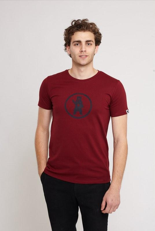 Notorious BIC Burgundy Organic Cotton T-Shirt-Absolutely Bear-MAMOQ
