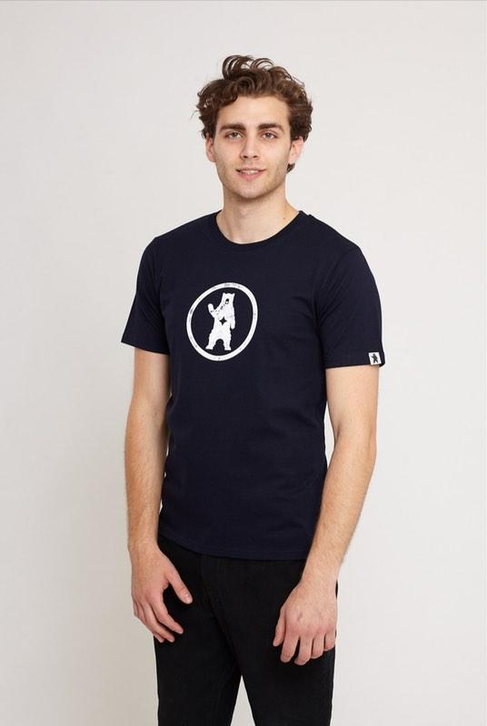 Notorious BIC Navy Organic Cotton T-Shirt-Absolutely Bear-MAMOQ