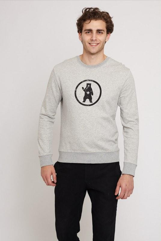 Notorious BIC Urban Grey Organic Cotton Sweater-Absolutely Bear-MAMOQ