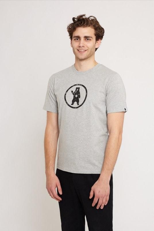 Notorious BIC Urban Grey Organic Cotton T-Shirt-Absolutely Bear-MAMOQ