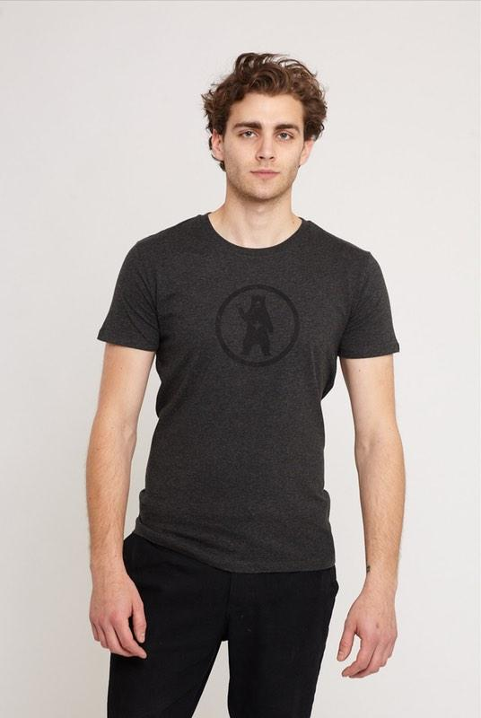 Notorious BIC Woodland Grey Organic Cotton T-Shirt-Absolutely Bear-MAMOQ