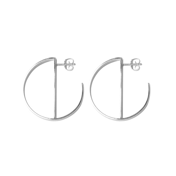 O Hoops Silver Earrings-Earrings-laoehlé-MAMOQ