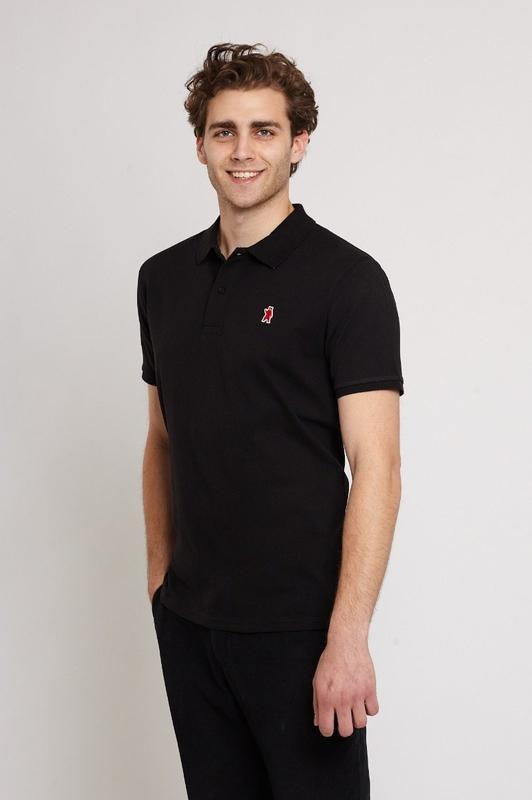 Oakley Black Organic Cotton Polo Shirt-Absolutely Bear-MAMOQ