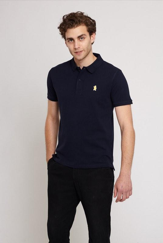Oakley Navy Organic Cotton Polo Shirt-Absolutely Bear-MAMOQ