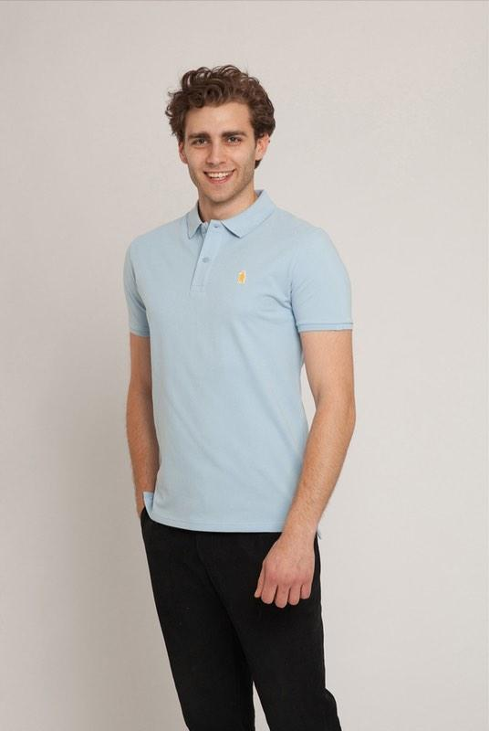 Oakley Sky Blue Organic Cotton Polo Shirt-Absolutely Bear-MAMOQ