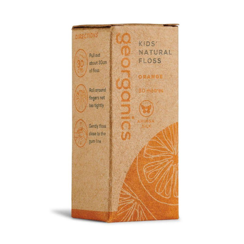 Orange Flavoured Natural Floss-Georganics-MAMOQ