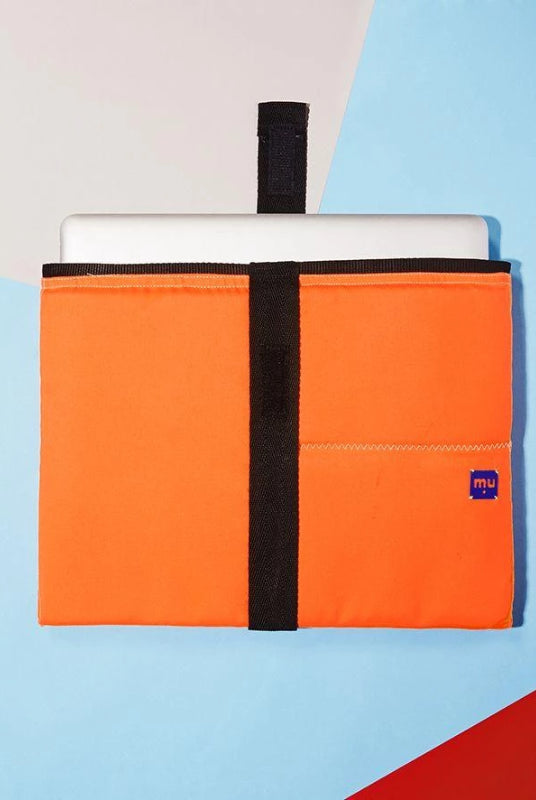 "Orange Laptop Sleeve 15""-Makers Unite-MAMOQ"