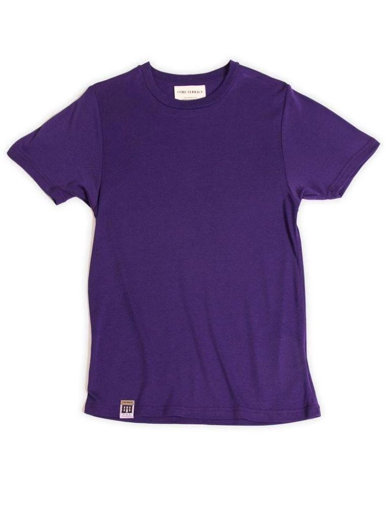 Organic Cotton and Bamboo T-Shirt Wistera-Lyme Terrace-MAMOQ