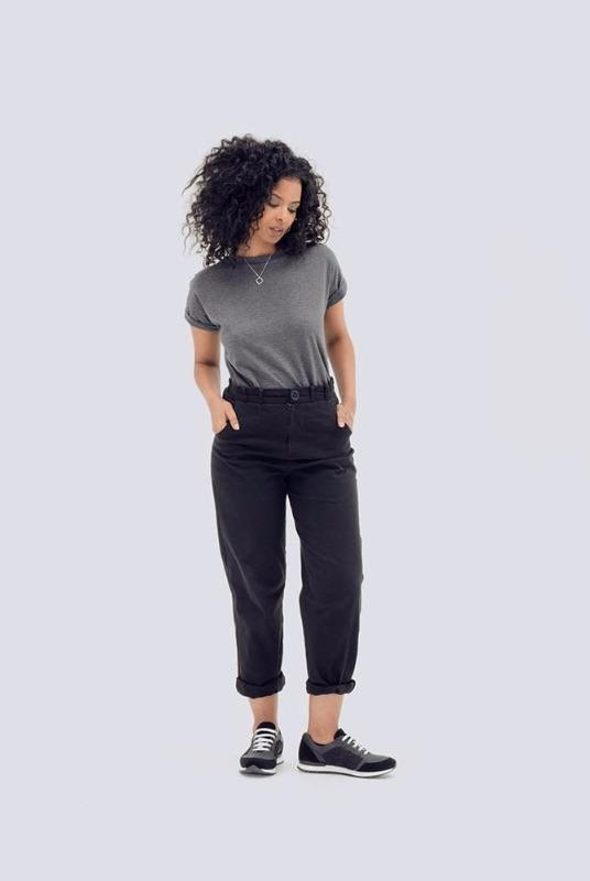 Organic Cotton Paper Bag Waist Trousers-Zola Amour-MAMOQ