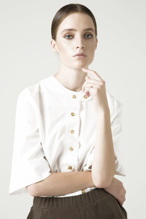 Organic Holly White Shirt-Rakha-MAMOQ