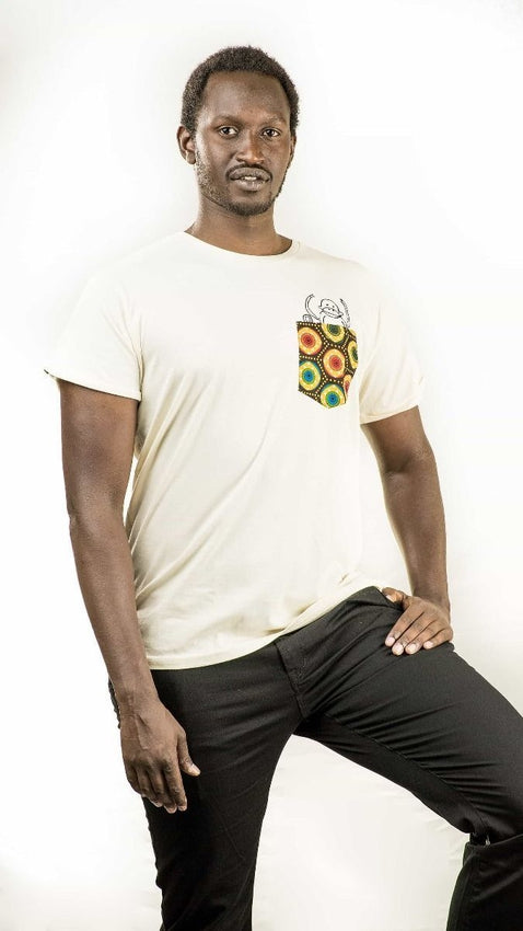 Organic Pocket Monkey Shirt-Kipepeo-MAMOQ