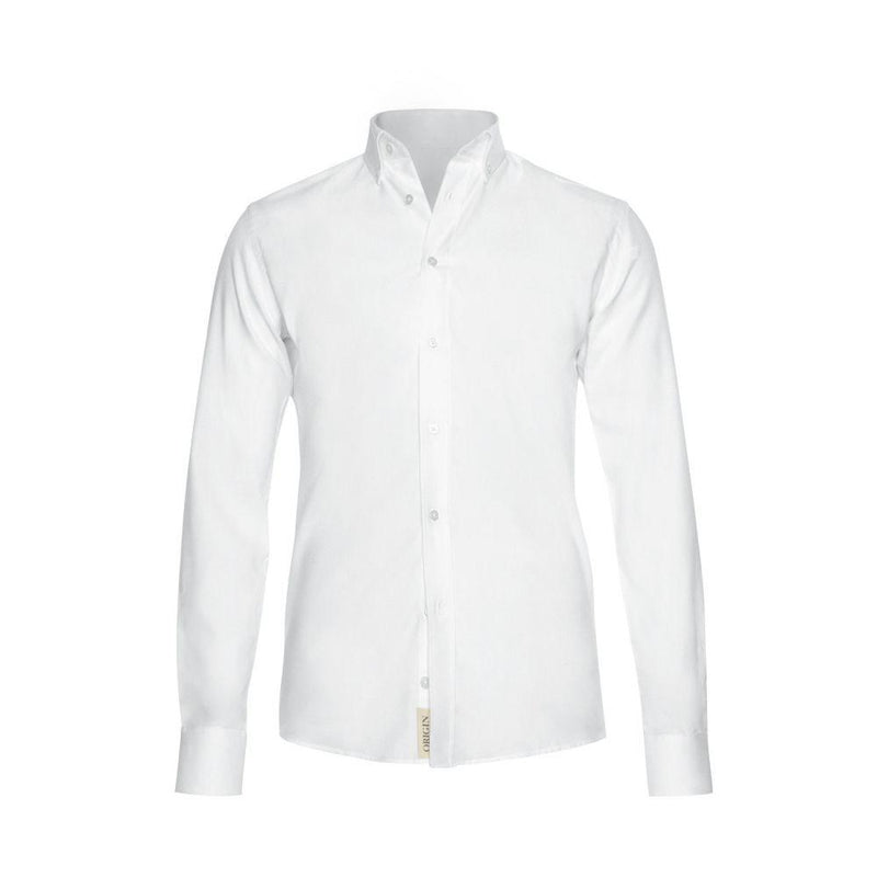 Origin White Oxford Shirt-Ivywake-MAMOQ