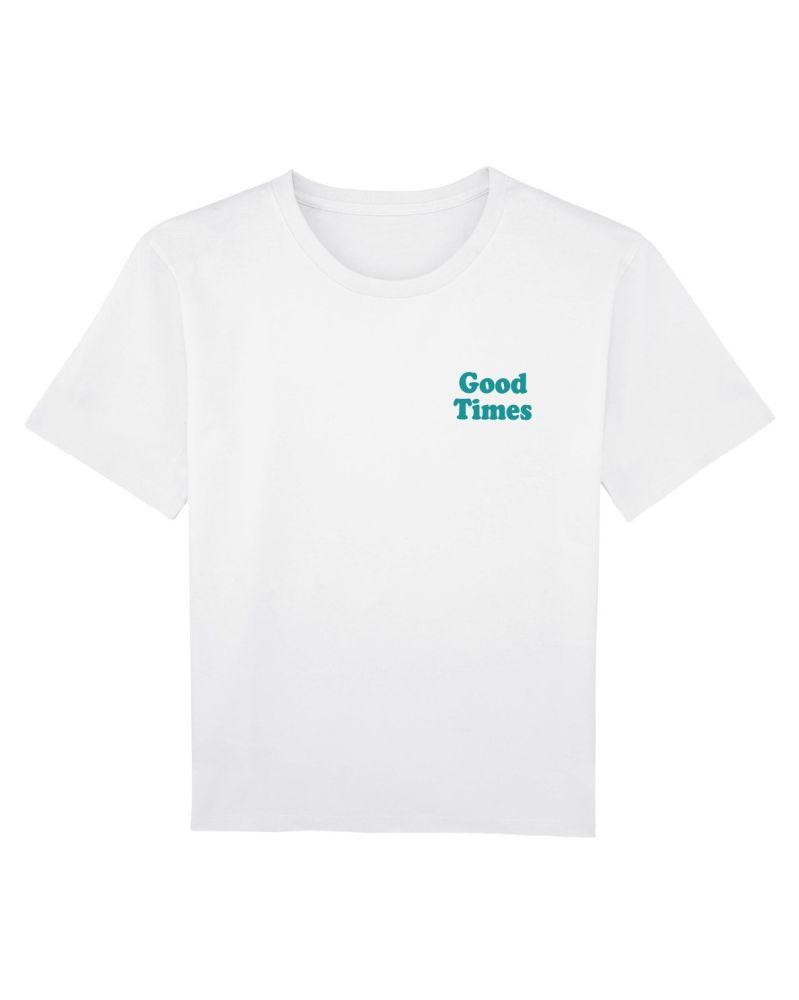 Oval Beach Workwear White Organic Cotton Tee-Goose Studios-MAMOQ