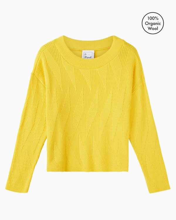 Painters Brush Yellow Merino Wool Jumper-Le Pirol-MAMOQ