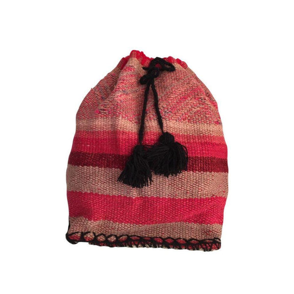 Palcaraju Striped Handwoven Wool Backpack-Untold Treasures-MAMOQ