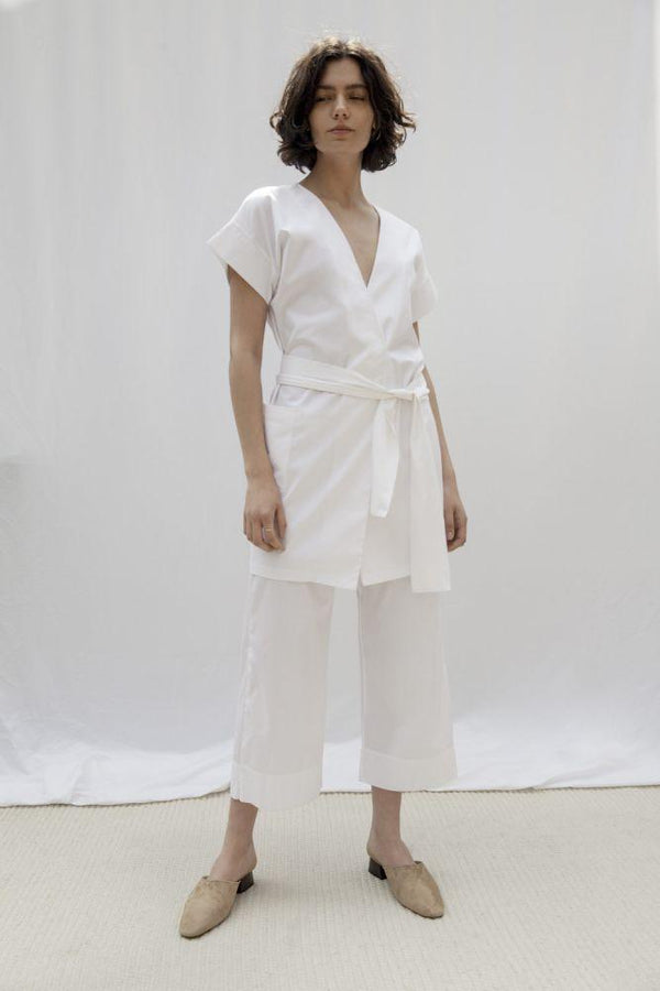Palm Canyon White Organic Cotton Kaftan Suit-Vanesa Vinhas-MAMOQ