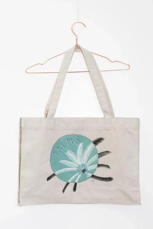 Palm Tree Under the Moon Shopping Bag-Soumati-MAMOQ