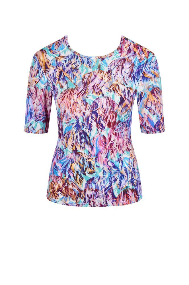 Pan Tropical Heat Bamboo Short Sleeve Top-Komodo-MAMOQ
