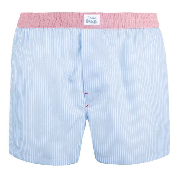 Paradise Blue Cotton Boxers-True Boxers-MAMOQ