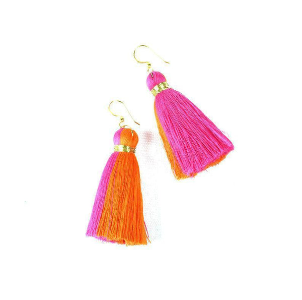 Pari Cotton Tassel Earrings-jewellery-Harfi-MAMOQ