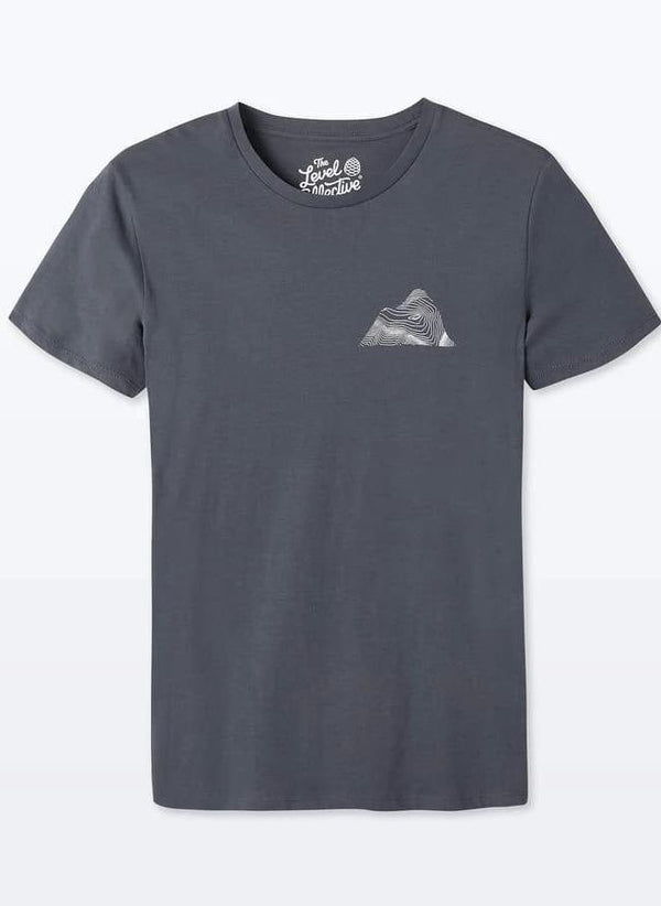 Peaks Unisex India ink Grey Organic Cotton T-Shirt-The Level Collective-MAMOQ