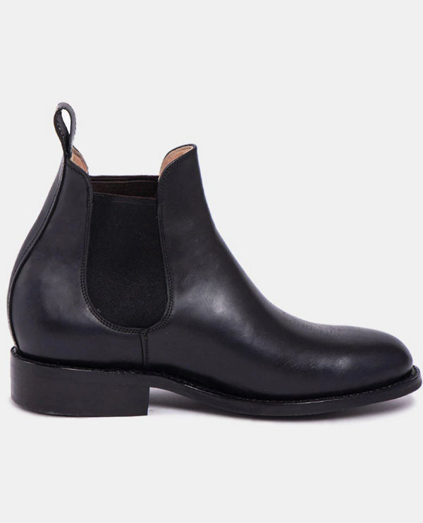 Pedro Black Men's Leather Chelsea Boots-Boots-CANO-MAMOQ