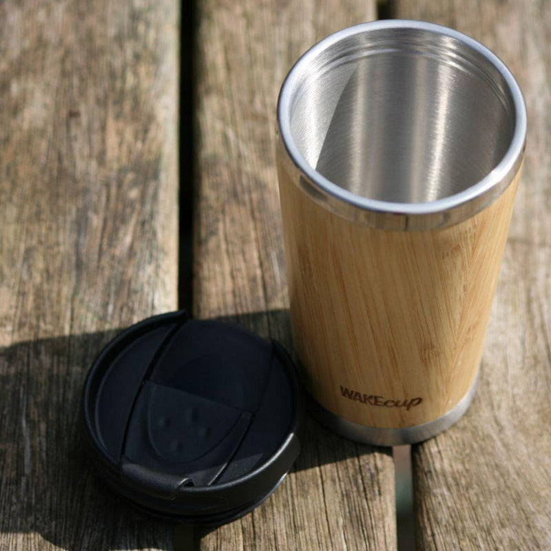 Penguin Reusable Bamboo Coffee Cup-WAKEcup-MAMOQ