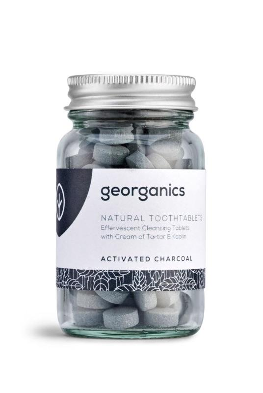 Peppermint Activated Charcoal Natural Toothpaste Tablets-Georganics-MAMOQ