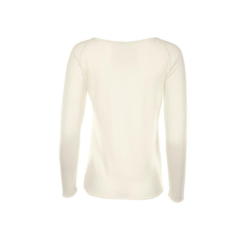 Phoebe Merino Raglan Ivory Top-Flock by Nature-MAMOQ