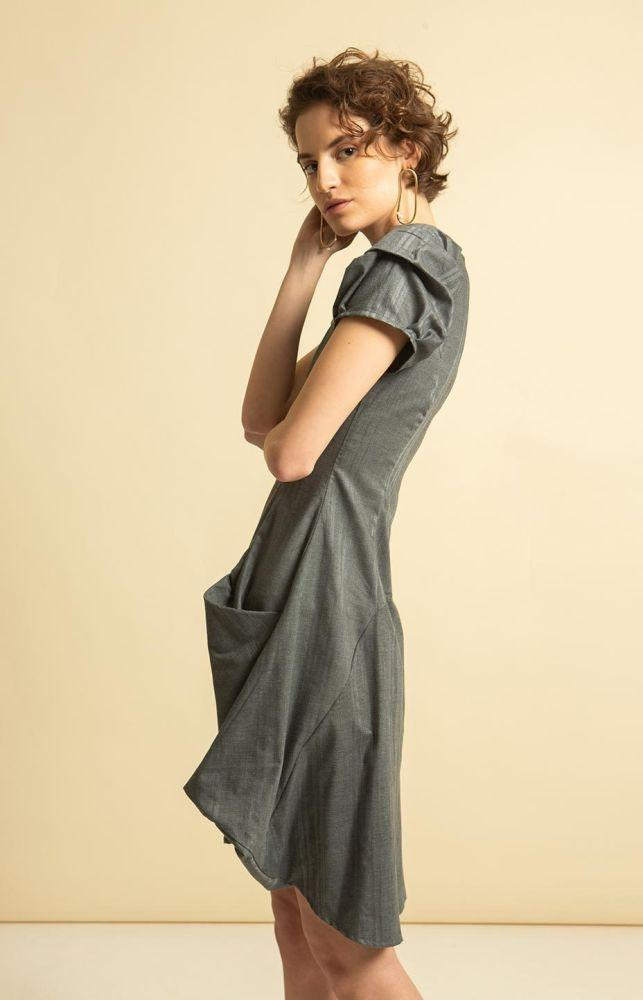 PicnicLeija Dress Grey-TAUKO-MAMOQ