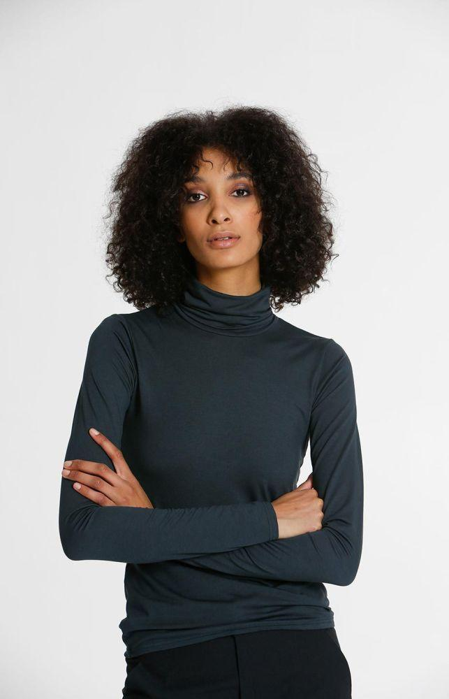 Pier Turtle Neck Shirt Alpine Green-TAUKO-MAMOQ
