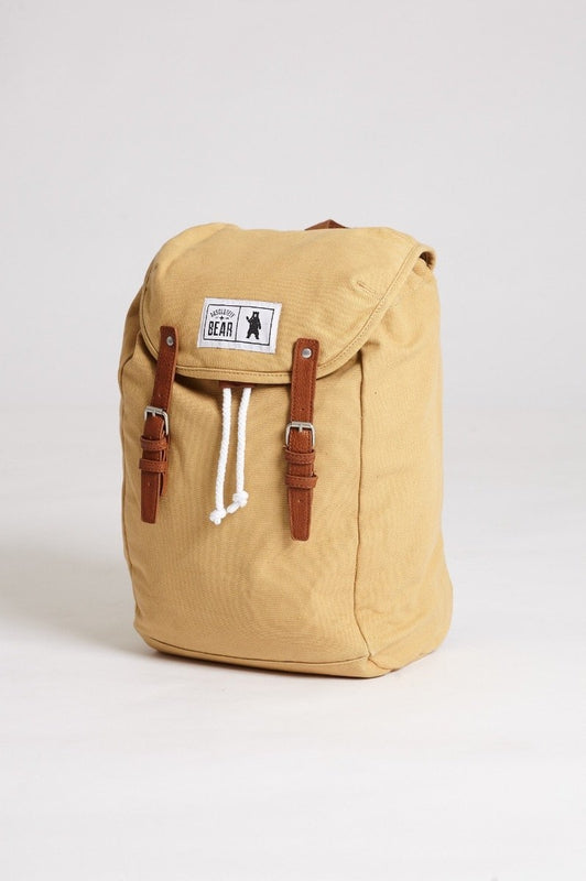 Pine Sand Canvas Backpack-Absolutely Bear-MAMOQ