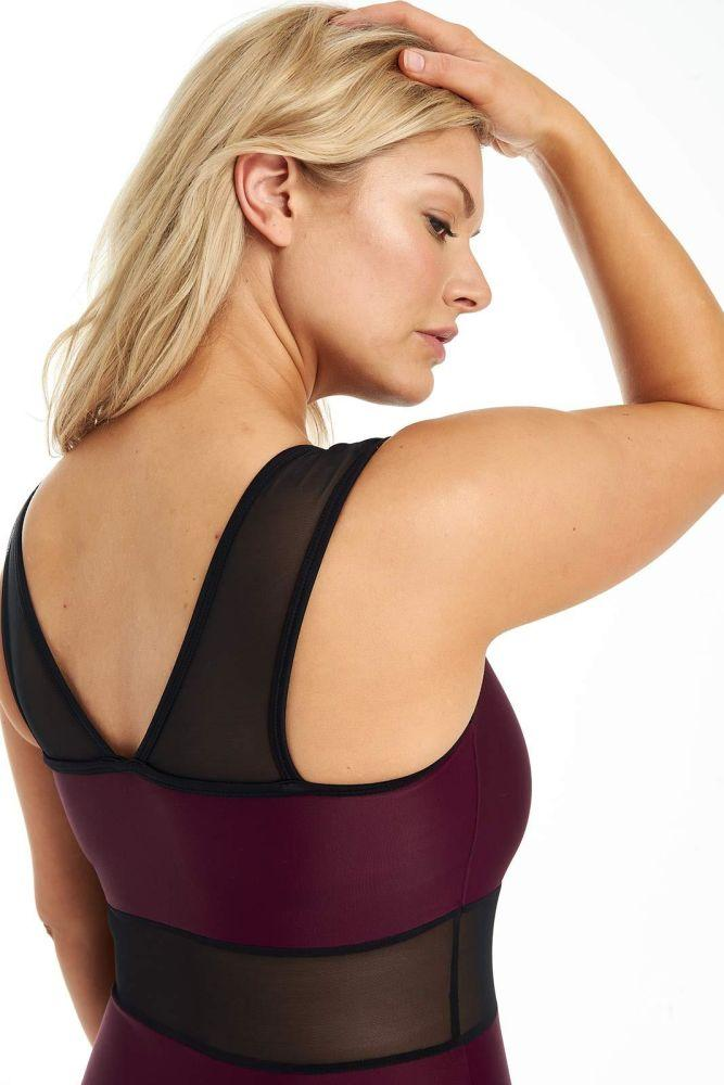 Plum Signature Swimsuit-Deakin and Blue-MAMOQ